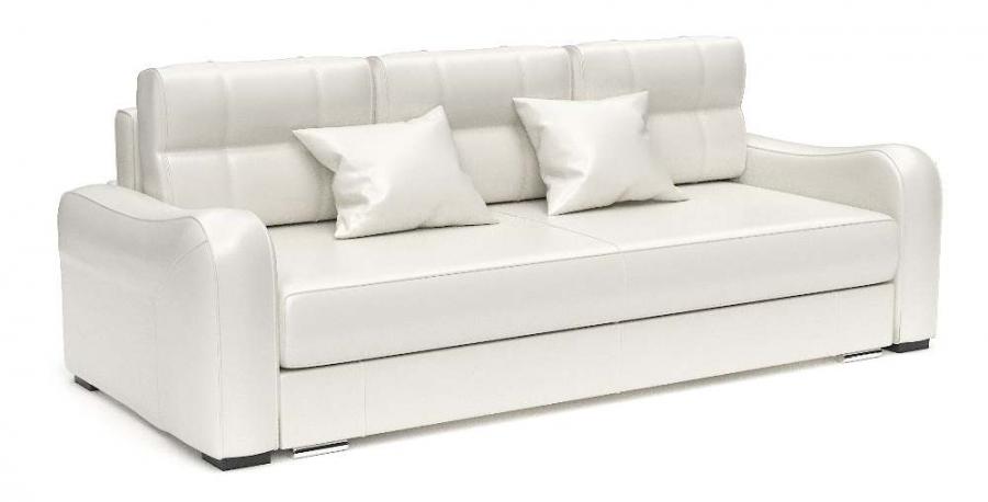 Прямой диван Нарцисс еврокнижка экокожа белая