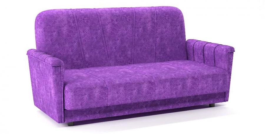 Диван прямой Шедевр 2 книжка фиолетовый велюр