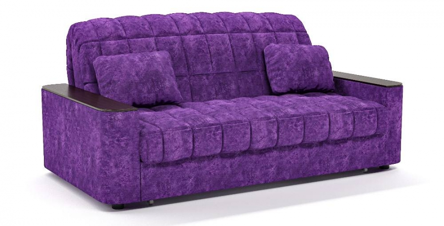 Диван прямой Даллас аккордеон фиолетовый велюр