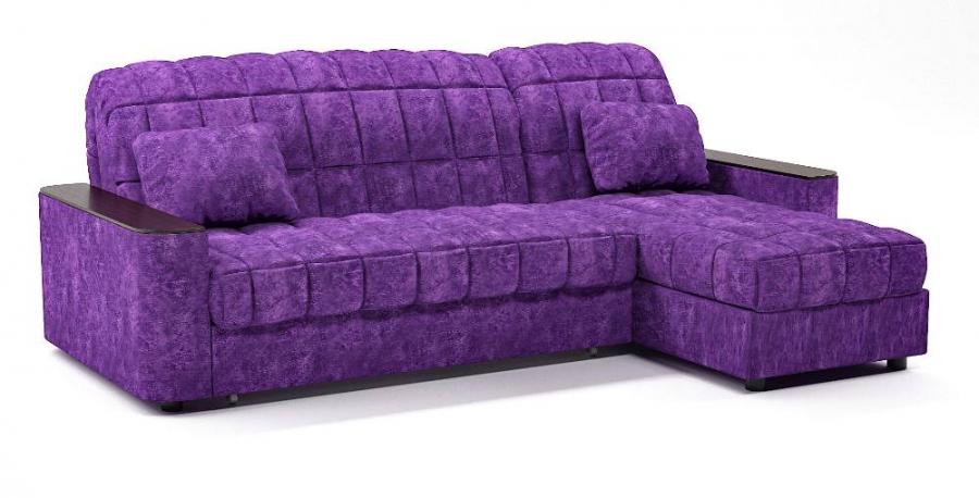 Диван угловой Даллас аккордеон фиолетовый велюр