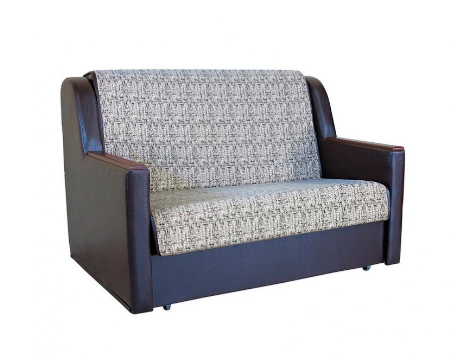 Диван-кровать «Аккорд Д» 100 велюр серый