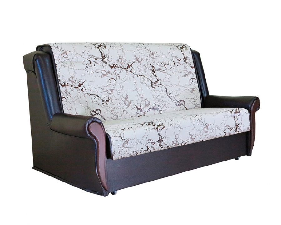 Диван-кровать «Аккорд М» 100 замша белый