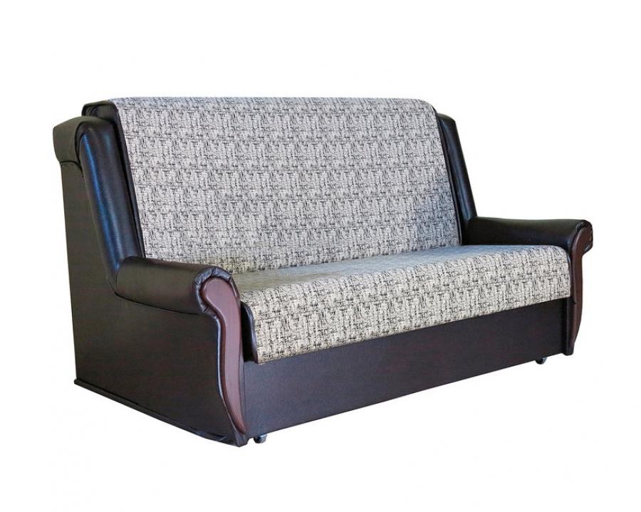 Диван-кровать «Аккорд М» 100 велюр серый