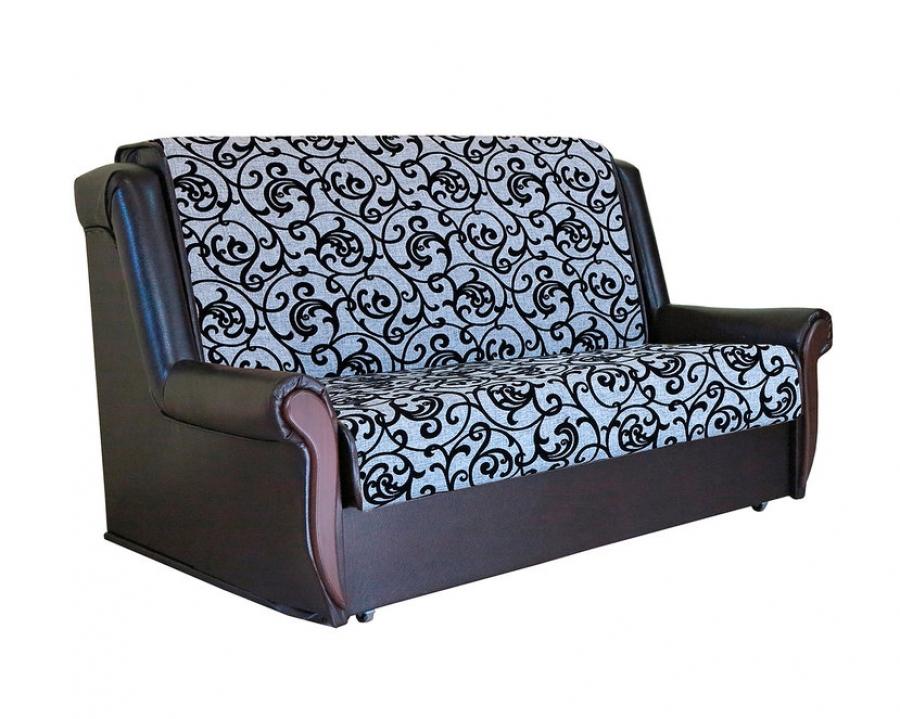 Диван-кровать «Аккорд Д» 100 серый узоры