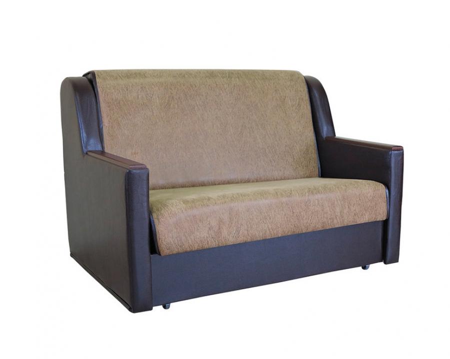 Диван-кровать «Аккорд Д» 100 замша коричневый