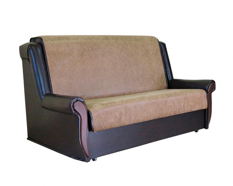 Диван-кровать «Аккорд М» 100 замша коричневая