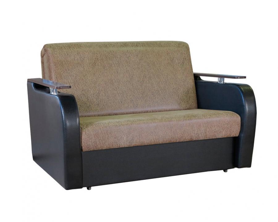 Диван-кровать Аккордеон «Гранд Д» Замша коричневый