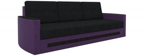 Диван Белла дельфин - Вельвет люкс Черный+Фиолетовый