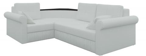 Угловой диван еврокнижка Юта - Экокожа Белый