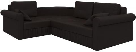 Угловой диван еврокнижка Юта - Экокожа Коричневый