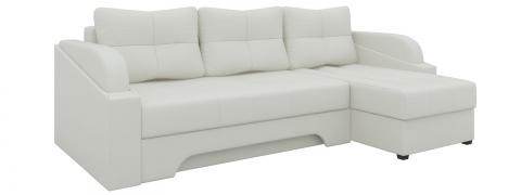 Угловой диван еврокнижка Панда - Эко-кожа Белый