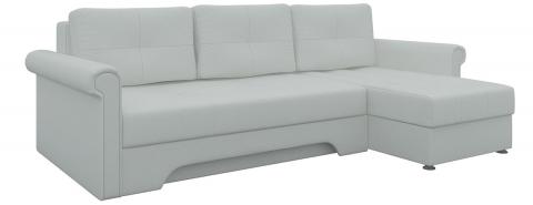 Угловой диван Гранд еврокнижка - Эко-кожа Белый
