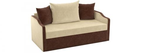 Детский выкатной диван Дороти - Вельвет бежевый коричневый