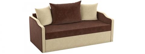 Детский выкатной диван Дороти - Вельвет коричневый бежевый