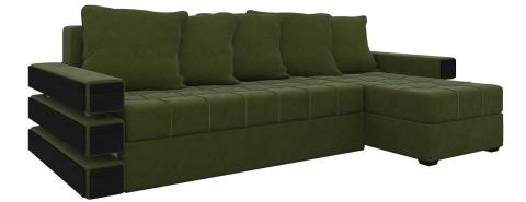 Угловой диван Венеция еврокнижка - Велюр Зеленый