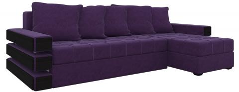 Угловой диван Венеция еврокнижка - Велюр Фиолетовый