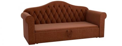 Детская кровать тахта Делюкс - Рогожка коричневая