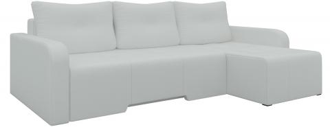 Угловой диван Манхеттен еврокнижка - Эко-кожа Белый