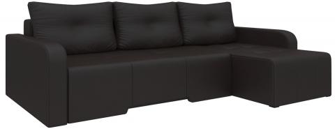 Угловой диван Манхеттен еврокнижка - Эко-кожа Коричневый