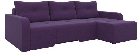 Угловой диван Манхеттен еврокнижка - Вельвет люкс Фиолетовый