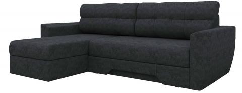 Угловой диван еврокнижка Амстердам - Вельвет Черный