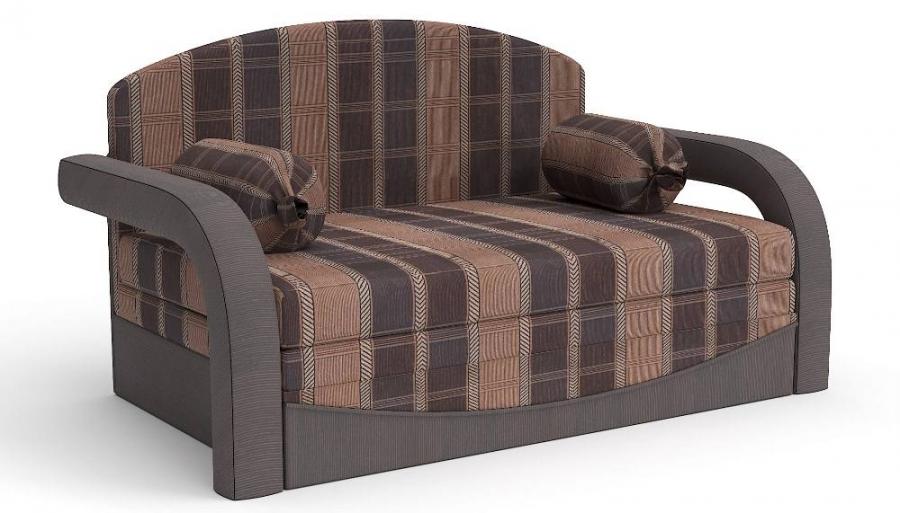 Прямой диван детский Элегия выкатной шенилл серо-бежевый