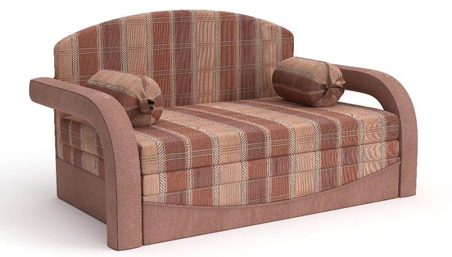 Прямой диван детский Элегия выкатной шенилл коричневый