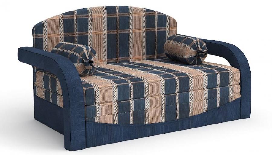 Прямой диван детский Элегия выкатной шенилл бежево-синий