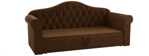 Детская кровать тахта Делюкс - Вельвет коричневый