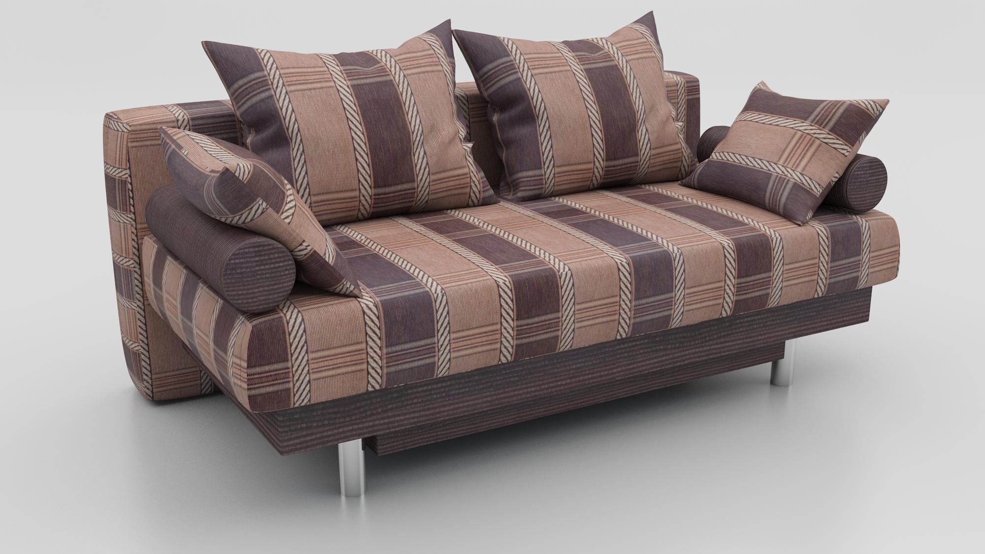 Прямой диван Парадиз еврокнижка шенилл коричневая